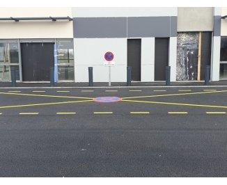 Réalisation place Convoyeur, Panneau signalisation et marquage au sol (45 Tavers)
